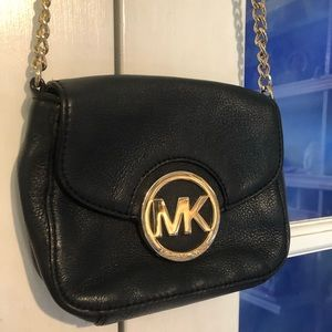 Authentic Michael Kors gold chain cross body bag